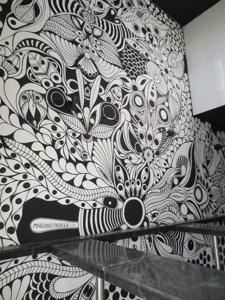 ©MarianoPadilla - Mural - Wall Painting  - Uni Posca on 50m2 wall  - Pancheria Juanchos Castelar