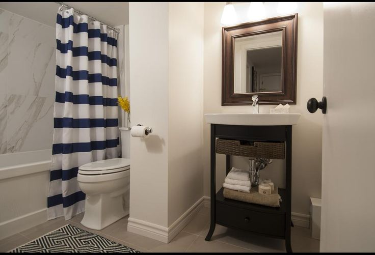 Modern bright basement bathroom income property hgtv for D i y bathroom installations