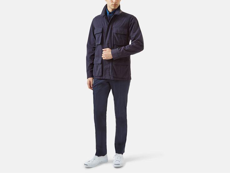 Wyke Garment Dyed Cotton Field Jacket