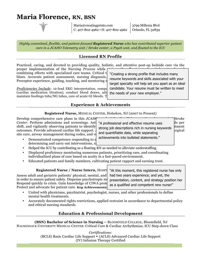 10 best Resume Templates images on Pinterest Resume tips, Resume - resume examples for registered nurse