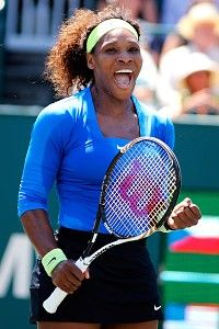 Serena wins her 40th WTA title at the 2012 Family Circle Cup.
