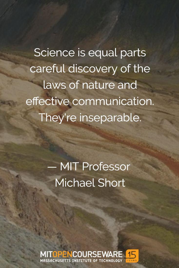 Teaching Science Communication on MIT OpenCourseWare