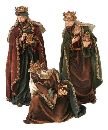 This Three Kings Figurine Set is perfect! #zulilyfinds