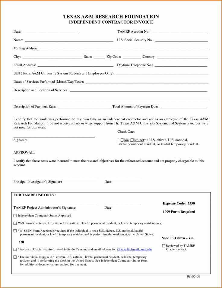 Independent contractor invoice template free best of 10