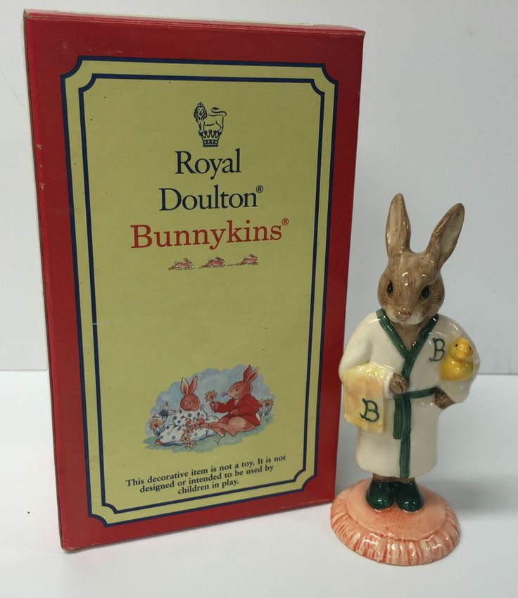 BEAUTIFUL BOXED  BATHTIME  BUNNYKINS BY ROYAL DOULTON 1994 EDITION DB148