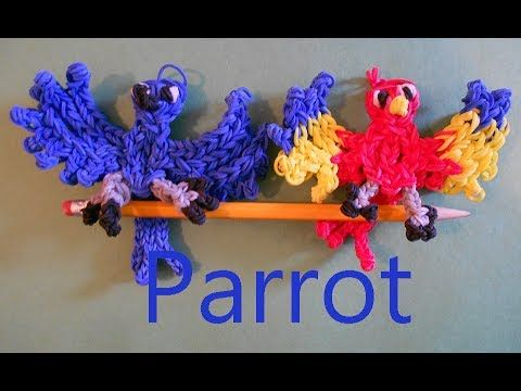 ▶ Rainbow Loom Charms: Blue Parrot From Rio - YouTube