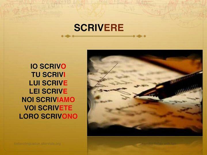 Scrivere-To write