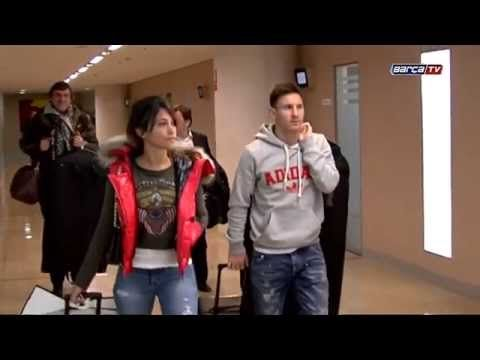 Messi and Iniesta leaving Barcelona for FIFA Ballon d'Or gala in Zurich