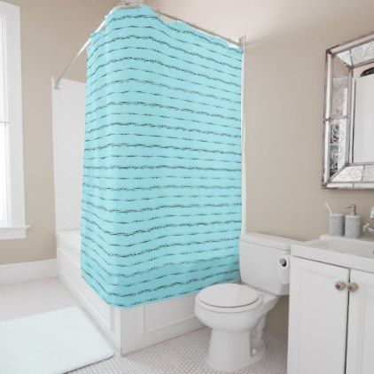 Delicate Luxury Pattern Turquoise Shower Curtain - luxury gifts unique special diy cyo