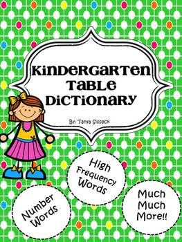 The Kindergarten Table Dictionary is a fantastic tool for beginning writers in groups or individually.  Early learners simply have to look up the word within the Table Dictionary they want to include in their classwork.  Several categories of words have already been included in the dictionary such as food and animals.  For additional learning opportunities, monthly pages are also provided so the students can record specific words in the dictionary over time.