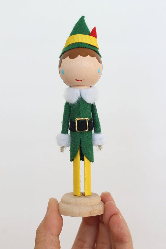 Hey, I found this really awesome Etsy listing at https://www.etsy.com/listing/212767641/buddy-the-elf-clothespin-doll