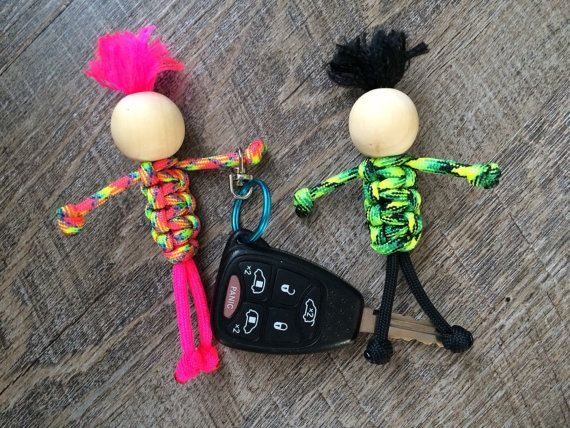 Paracord people keychain  stocking stuffer  by highplainsknotwork
