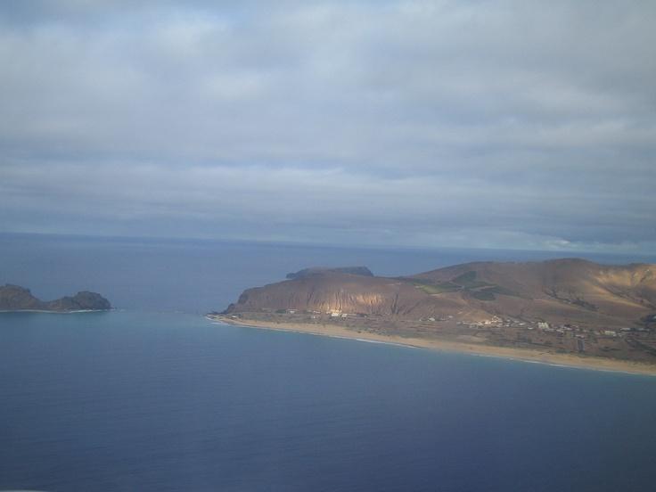 Porto Santo, no ar.