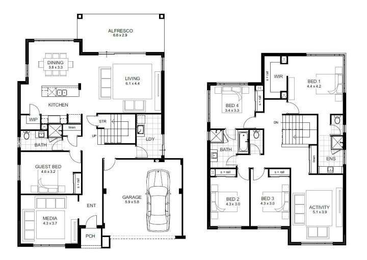 5 Schlafzimmer 2 Stockige Hausplane Und Geschosshausplane Philippinen Teoville West 2 In 2020 5 Bedroom House Plans House Plans With Photos Two Story House Plans