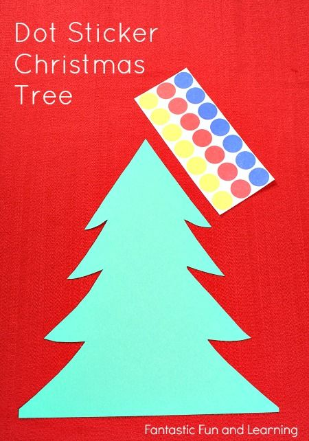 Easy Dot Sticker Christmas Crafts for Preschoolers