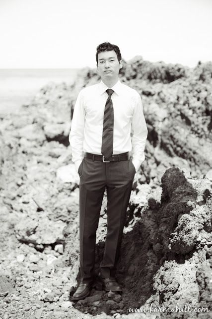 handsome groom, maui wedding, black trousers and tie, wedding by Simple Maui Wedding