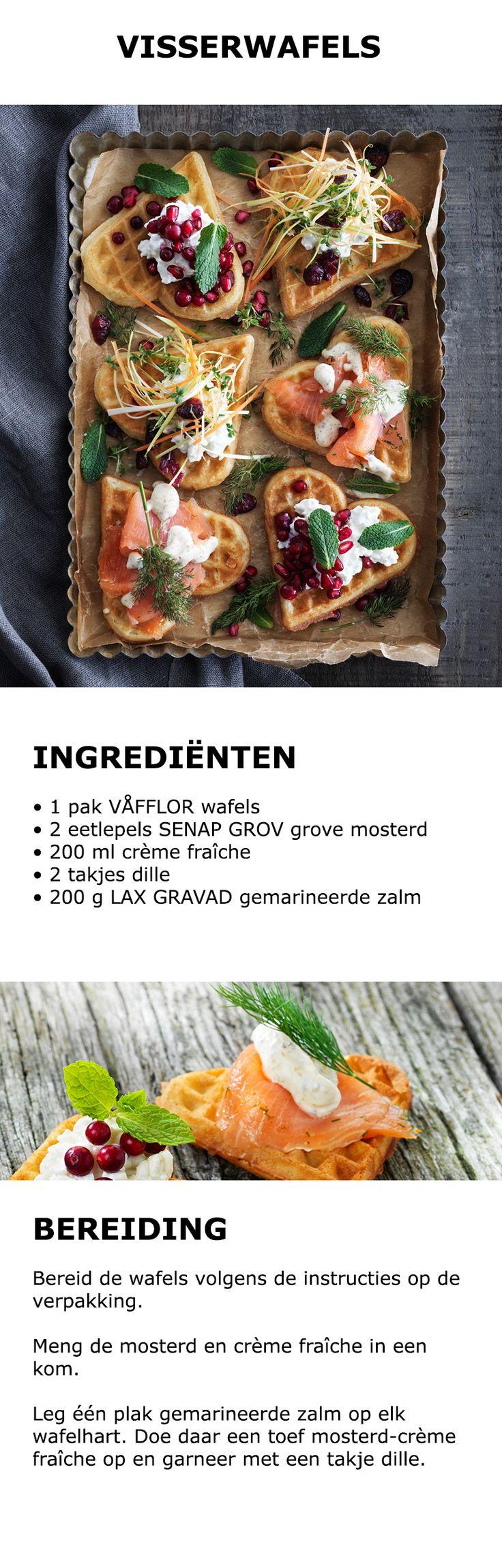 Inspiratie voor in de keuken - Visserwafels | #IKEA #IKEAnl #koken #gerecht #recept #wafel #hartje #zalm