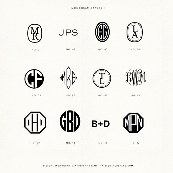 Custom monogram handled rubber stamps by BesottedBrand on Etsy, $40.00