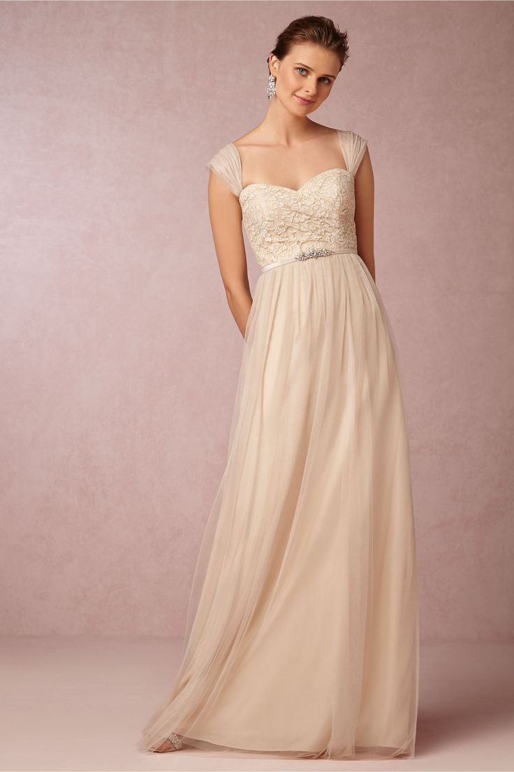 BHLDN Juliette Dress In Bridesmaids View All Dresses At BHLDN (color:  Cashmere, Also: Sea Glass Or Cameo Pink)