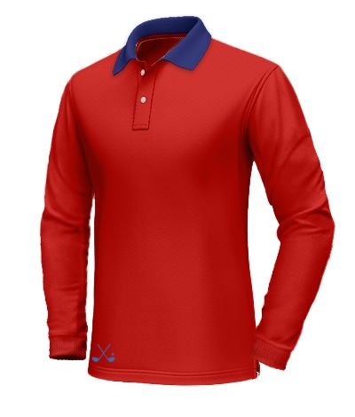 Red polo shirt with blue collar http://www.tailor4less.com/en-us/collections/custom-polo-shirts/long-sleeve-polo-shirts/red-polo-shirt-with-blue-collar