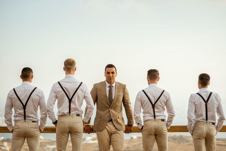 #groomsmen | M&A Mykonos Weddings | www.mamykonosweddings.com