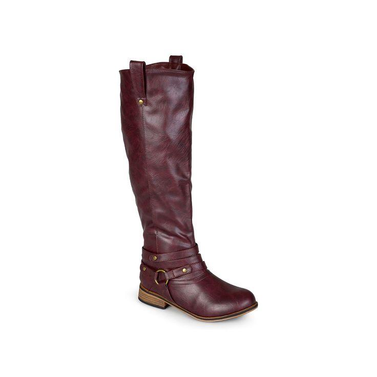 Journee Collection Walla Women's Knee-High Boots, Teens, Size: 9.5 Wc, Dark Red