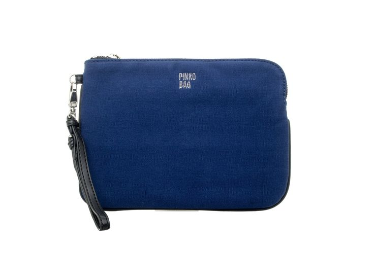PINKO - Pochette STRINGA in tessuto tecnico - blu - Elsa-boutique.it <3 #Pinko