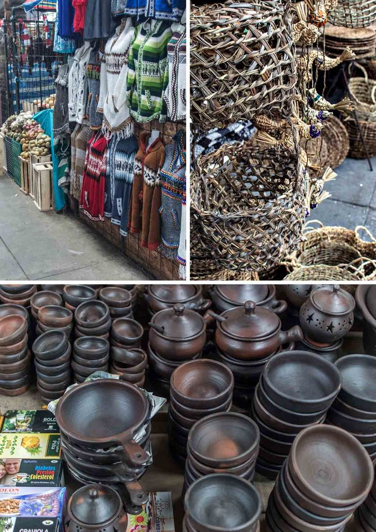 Clothing, basketware and earthenware at Mercado Municipal Lillo in Castro, Chiloé Island | heneedsfood.com