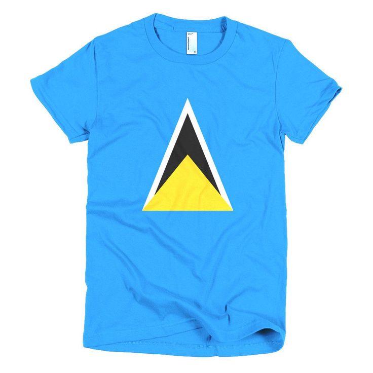 St. Lucia Flag - Short sleeve women's t-shirt – Properttees