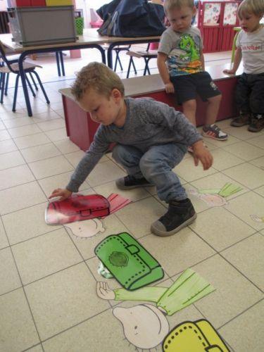 Grote boekentas/ kleine boekentas - groene/rode/gele boekentas