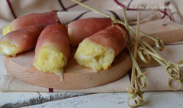 Rotolini patate e speck un antipasto sfizioso,ottimi da servire per antipasto o buffet