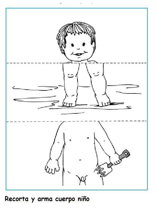 Fichas Infantiles: Puzzles del cuerpo humano para niños