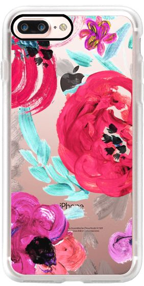 Casetify iPhone 7 Plus Case and other Floral iPhone Covers - Mona Floral Clear by Crystal Walen | Casetify
