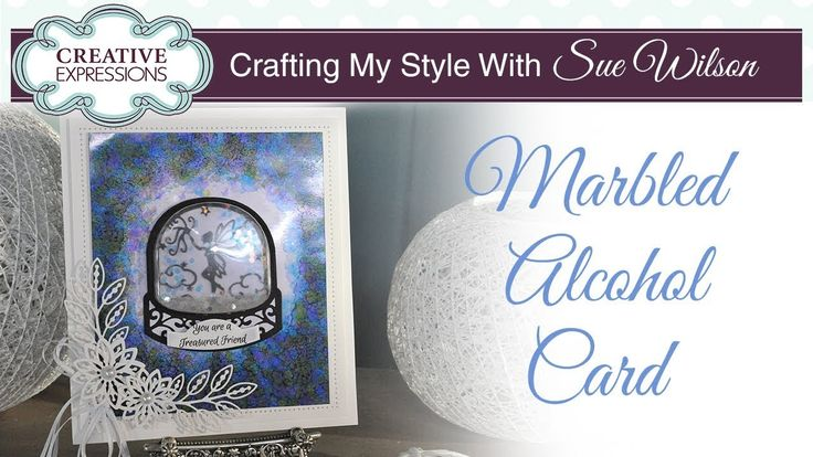How To Make a Marbled Alcohol Background Card   Crafting My Style with S...
