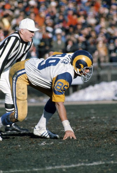Fred Dryer of the Los Angeles Rams . 1979 Dryer played for the Rams from 1972-81