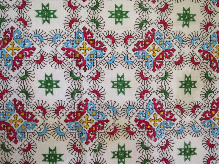 vintage embroidery/Greek geometric design/ by ExceptionalFabrics