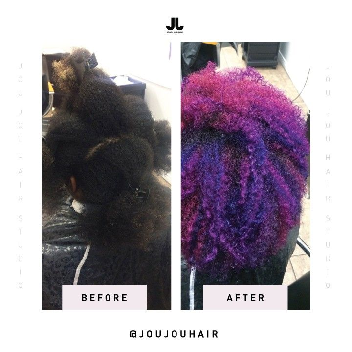 Galaxy Inspired Hair Colour | Before & After | JouJou Hair Studio