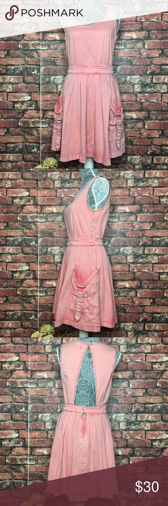 Topshop Pink Acid Wash Dress The perfect stylish pink acid wash dress for festivals and the summer time weather. In great condition. Topshop Dresses