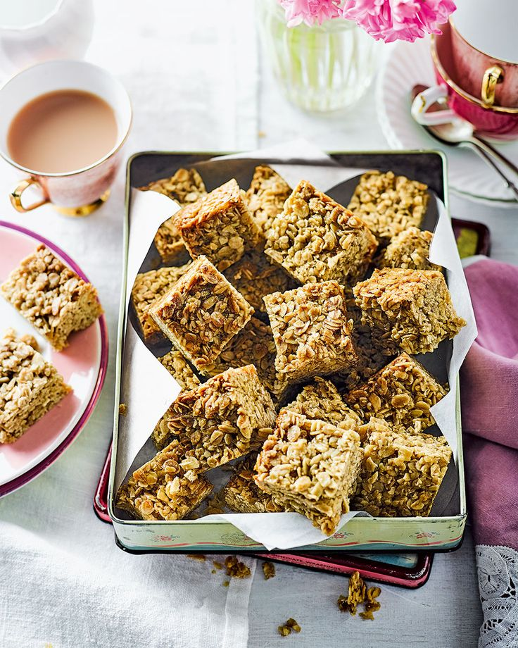 You can't beat a proper, old-fashioned flapjack – made using chunky oats and golden syrup – with a good cup of tea.