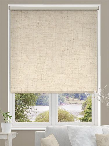 Extra textured with natural linen in 3 colours custom made window (LINO) roller blind