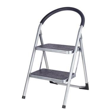 Lock Stock & Barrel 2 Step Ladder Black & Grey 45 x 54 x 84 cm