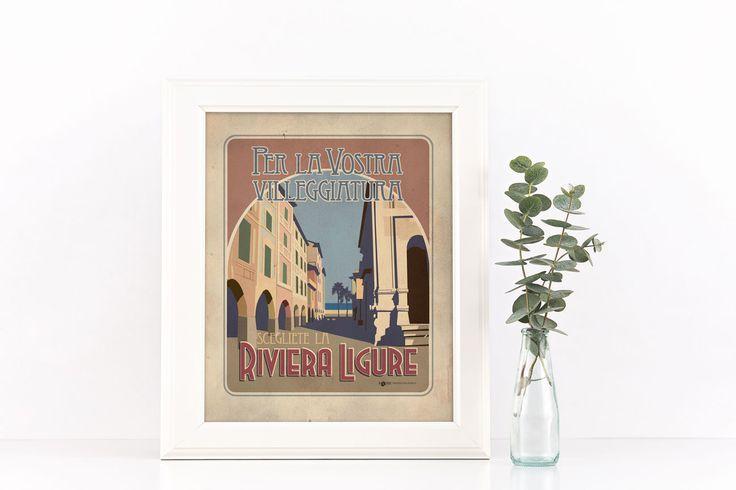 #rivieraligure #liguria #vintage #targhevintage #vimages #stampevintage…