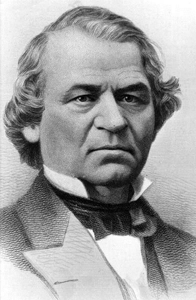 Andrew Johnson, 17th President of the US.