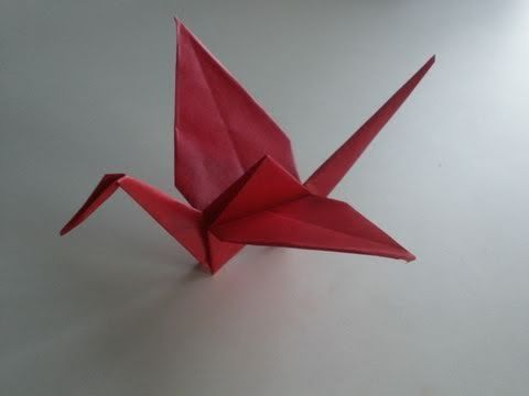 Origami-Anleitung: Kranich, My Crafts and DIY Projects