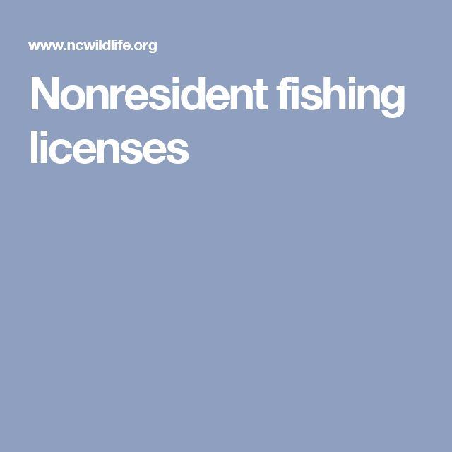 Nonresident fishing licenses