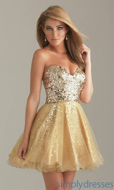 Nice Gold homecoming dresses 2018-2019