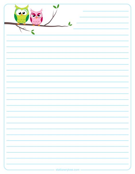 Owl Stationery and Writing Paper