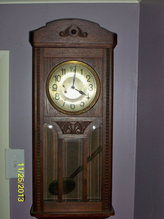 A Max Busse Made Wall Clock Made In Germany Old Clocks