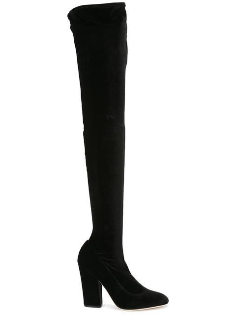 SERGIO ROSSI thigh-length boots. #sergiorossi #shoes #boots