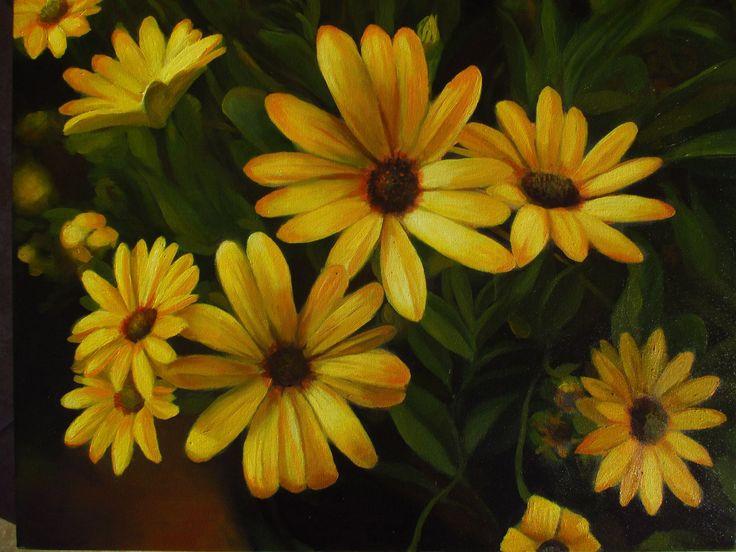 flores,  flowers  oleo sobre tela  Benjamin